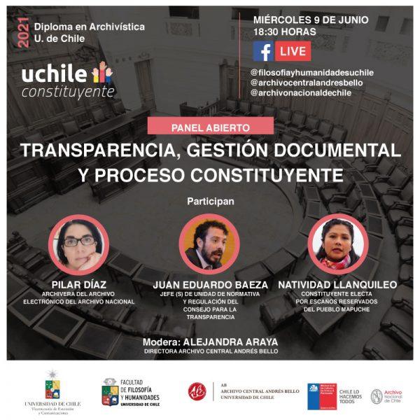 Registro - Panel abierto: Transparencia, gestión documental y proceso constituyente
